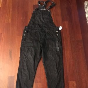 GAP Black Denim Overalls